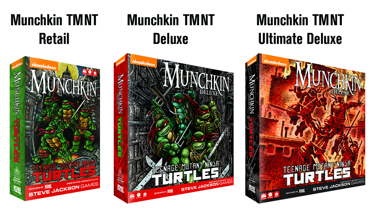 Munchkin Teenage Mutant Ninja Turtles Brings Steve Jackson Games And IDW Together For An Action Packed Card Game Combining Iconic Characters From