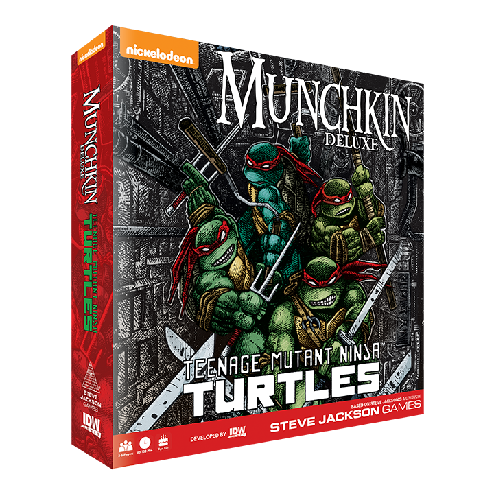 IDW Games Announces Munchkin Teenage Mutant Ninja Turtles with Steve Jackson Games and Nickelodeon